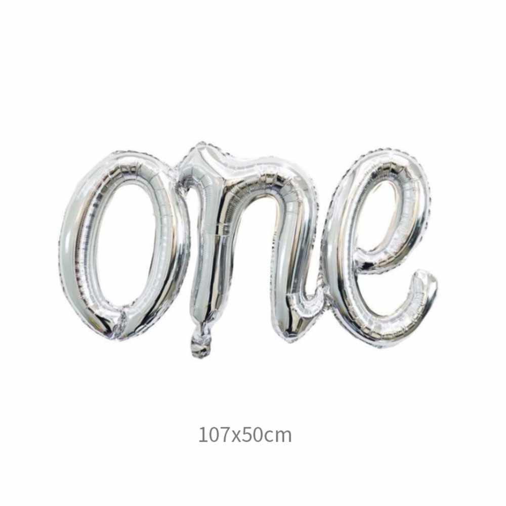 عيد ميلاد 1st البالونات الطفل من الذهب الفضة بالونات حروف وأرقام للطفل الأولى عيد ميلاد الديكور الأولى إمدادات حزب