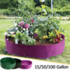 15/50/100 Gallons Garden Bed Round Planting Container Fabric Grow Bags Breathable Gardening Planter Pot Plants Nursery Pot 1