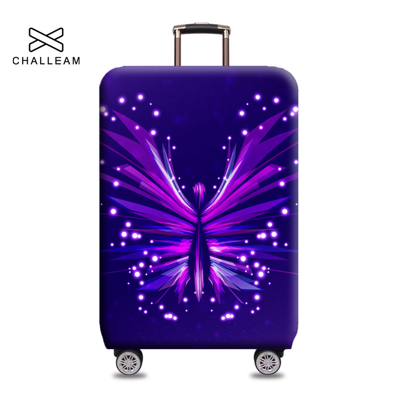 Pinbeam Luggage Cover Colorful Hippy Hippie Abstract Flowers Power Pattern Peace Travel Suitcase Cover Protector Baggage Case Fits 22-24 inches