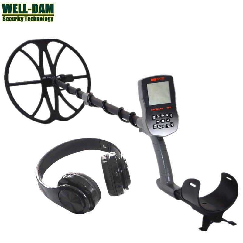 Gold Hunter T90 Full waterproof underground gold metal detector with wireless headphones and 12