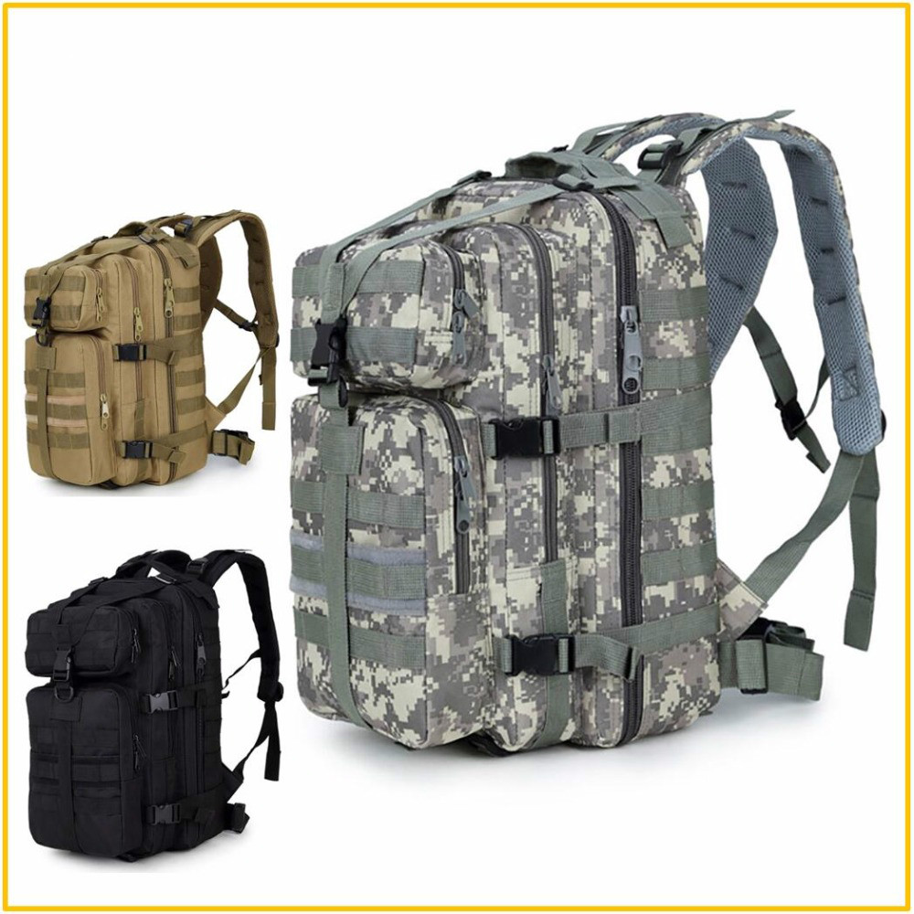 Waterproof Military Tactical Assault Molle Pack 35L Sling Backpack Army Rucksack Bag For Outdoor Hiking Camping Hunting 600D
