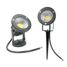 IP65 садовый светильник COB садовый светильник для газона 220 в 12 В водонепроницаемый точечный светильник светодиодный светильник Спайк 3 Вт 5 Вт 7 Вт 9 Вт Спайк светодиодный светильник для ландшафта