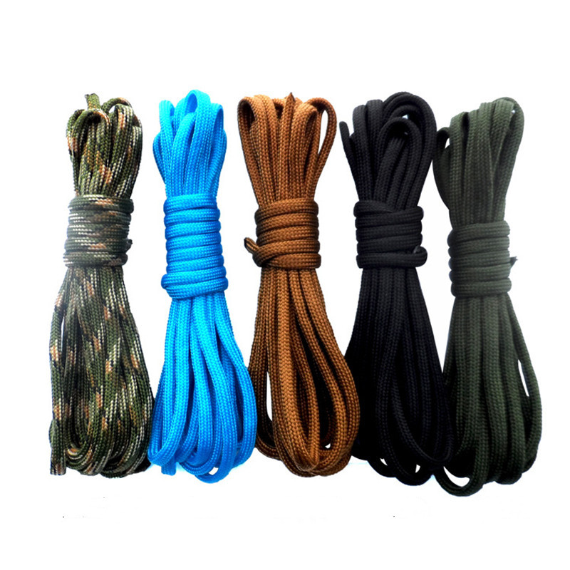 Diving Climbing Outside Seven-core Umbrella Rope Reel Finger Spool Round Nylon Line Cord Rope Replacement For Underwater 10M