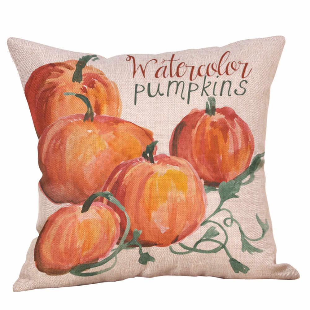 Decoración de Halloween accesorios de Halloween cama del coche del hogar sofá letra decorativa almohada funda cojín arte naturaleza decoración del hogar
