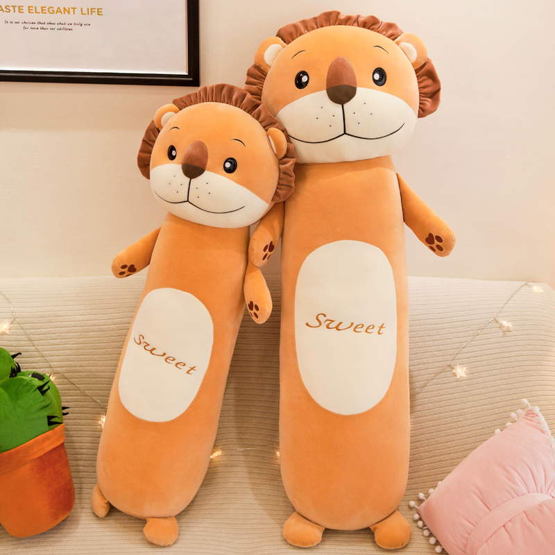 Plush Toys Animal Forest Lion Creative Long Soft Office Lunch Break Nap Sleeping Pillow Cushion Stuffed Gift Doll for Kids Just6F