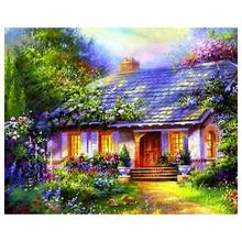 Diy Diamond Painting Landscape Village Villa Home Decoration Embroidery Square Round Needlework Gift