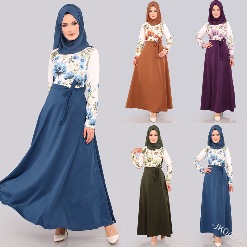 Ramadan Eid Mubarak Abaya Dubai Turkey Muslim Hijab Dress Turkish Dresses Islamic Clothing For Women Caftan Marocain Kaftan Robe