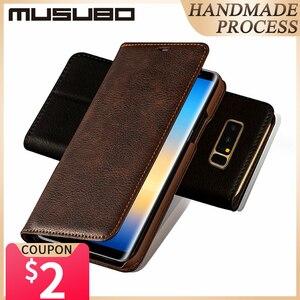 Image 1 - Mulubo Funda ultrafina para teléfono Samsung Galaxy S9 Plus S8 +, Funda de piel auténtica S8 Plus, con tarjetero de lujo