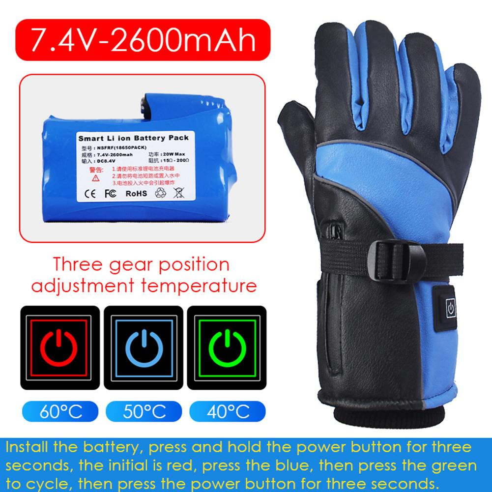 Snowmobile Ski Heated Gloves Snowboarding Thermal Gloves Snow Winter Sport Motorcycle Men Women Mittens Heating Battery Gloves