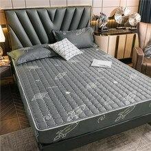 Przyjazny dla skóry pikowany prześcieradło miękki oddychający materac na łóżko pokrowiec ochronny wygodne łóżko prześcieradło pościel