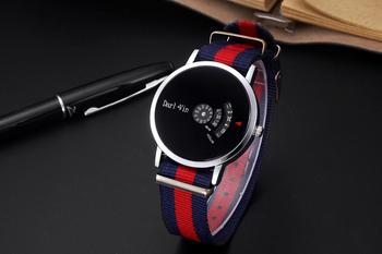 Korean version of the trend of fashion watches men's watches fashion features concept watch seconds student table men image