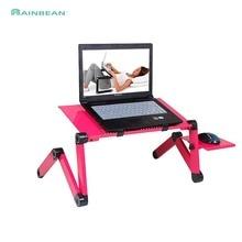 Регулируемый алюминиевый стол для ноутбука эргономичные диванные лоток для ноутбука стол из поликарбоната подставка для ноутбука настольная подставка с ковриком для мыши розовый