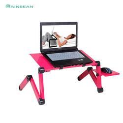 Регулируемый алюминиевый стол для ноутбука эргономичные диванные лоток для ноутбука стол из поликарбоната подставка для ноутбука