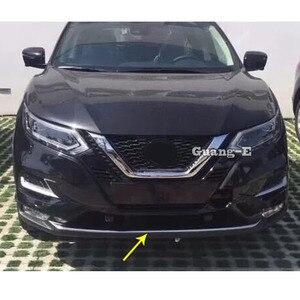 Для Nissan Qashqai 2019 2020 автомобильный корпус ABS хромированный номерной знак отделка гоночная решетка капоты Панель рамка бампер 1 шт