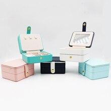 Elegant Girls Mini Travel Jewelry Case Zipper Portable Jewelry Organizer  Storage Box