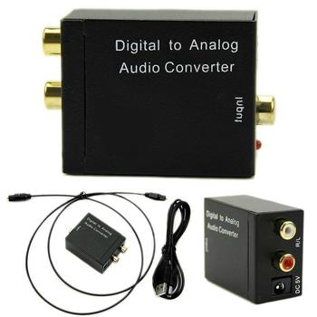 Digital to Analog Audio Converter Adapter Digital Optical Fiber Coaxial RCA Toslink Signal to Analog Audio Converter RCA for DVD digital to analog audio converter adapter optical toslink