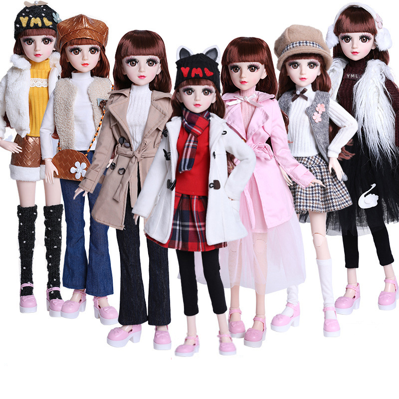 60cm Doll clothes Doll Dress Fashion Casual Wear Girl Clothes Doll Accessories DIY Toys Baby Doll Fashion Outfit Gift 1 Set