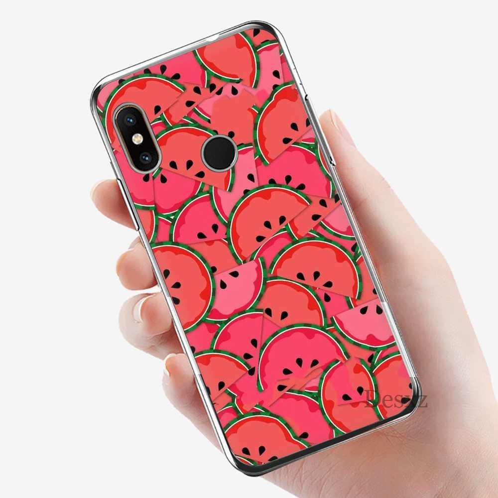 מקרה טלפון נייד Tpu לxiaomi Redmi הערה 4 4X5 5A 6 7 8 פרו כיסוי Cartoon פירות אבטיח