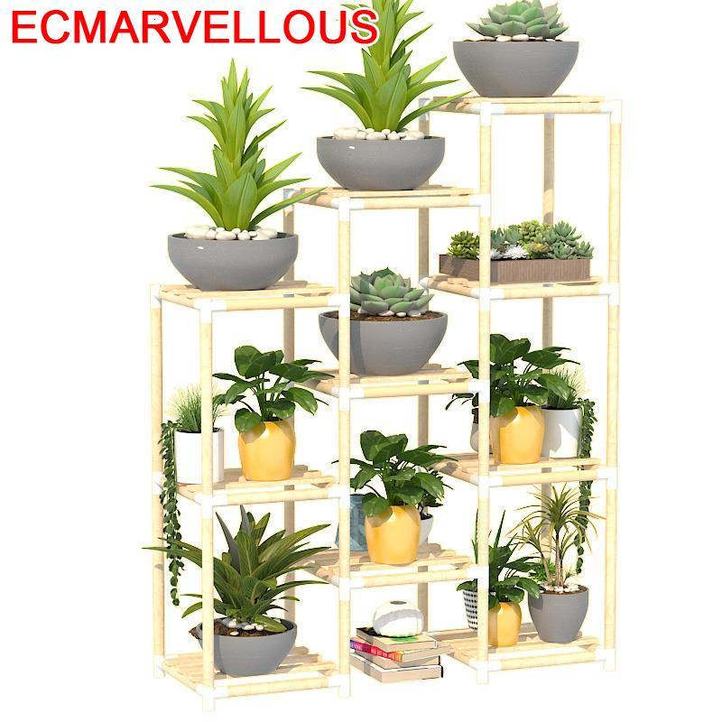 Wood Repisa Pot Living Room Macetas Escalera Estanteria Para Plantas Indoor Rack Dekoration Balcony Flower Shelf Plant Stand