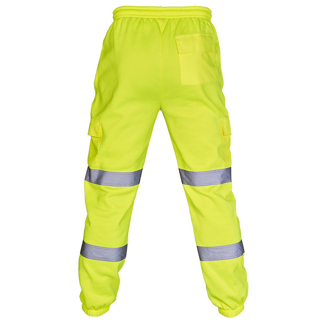 2019 New Warm Fashion Men Road Work High Visibility Overalls Casual Pocket Work Casual Trouser Pants Autumn Tops *10