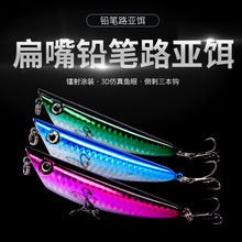 цена на Bassland Fshing lure 85mm 10g walk the dog Floating 3D Eyes Fshing lure fishing lure pencil stickbait pike lure yo zuri lures