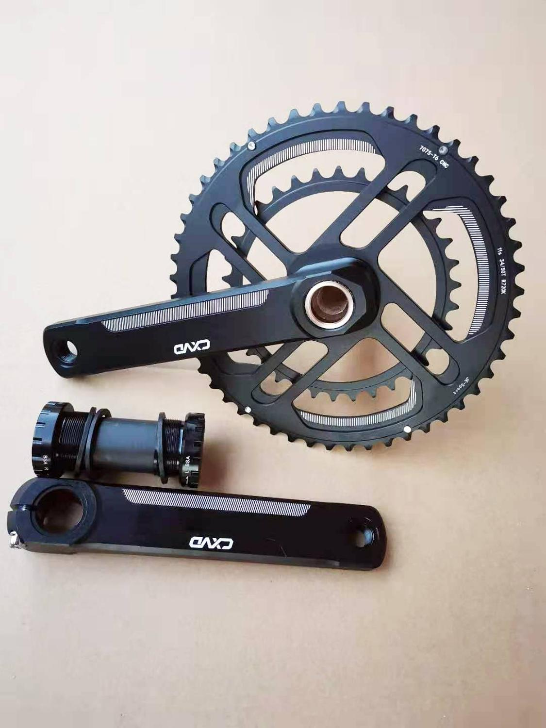 bicycle crankset 2 x 10 /11/12 Speed Road Chainset Chain Wheel crank protector, 50/34T, 170mm Cranksets bicycle parts