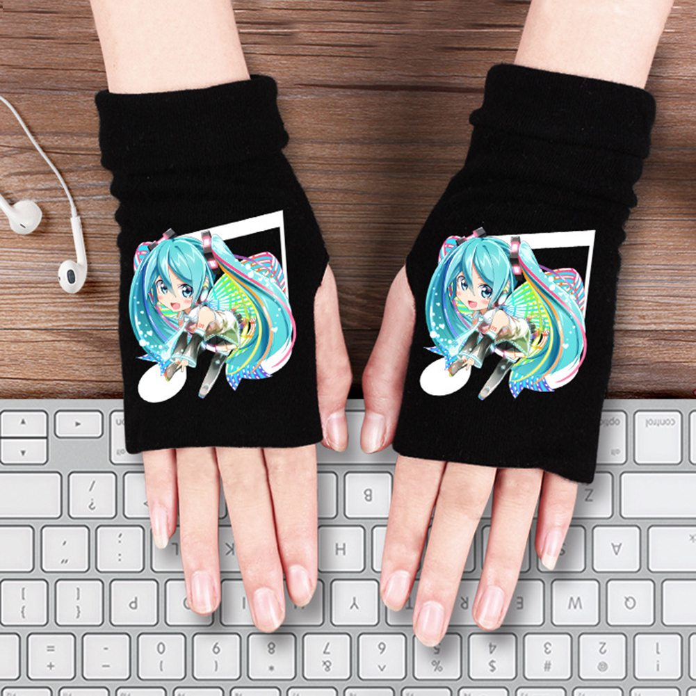 Cartoon Anime Gloves Hatsune Miku Full Finger Gloves