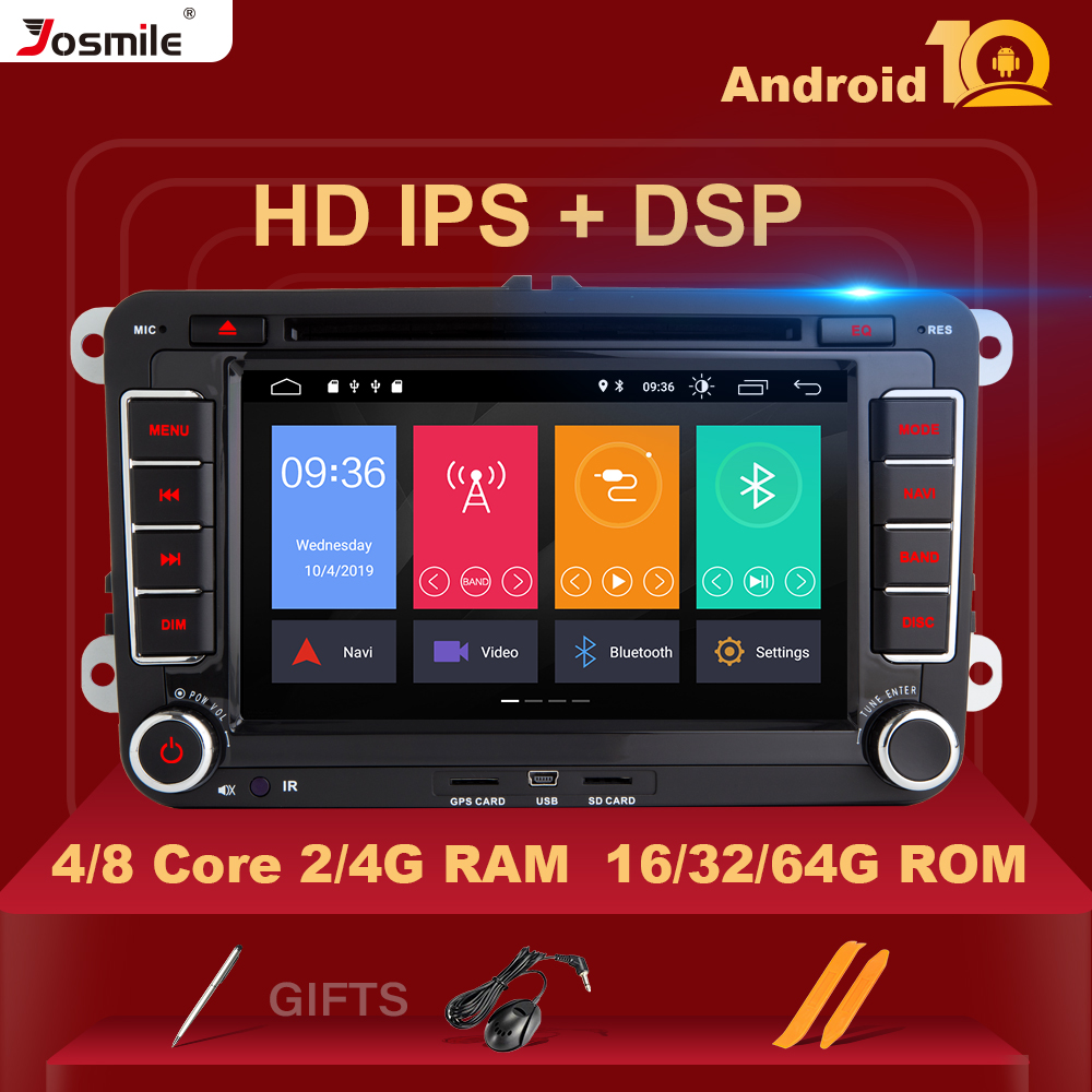 DSP IPS 8 core Android 10 Car DVD Player For Amarok Volkswagen VW <font><b>Passat</b></font> <font><b>b6</b></font> Polo Skoda Octavia 2 Tiguan golf 56 seat leon obd2 image
