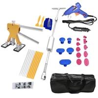 32Pcs/Set 12V Car Charger Plug Glue Gun Car Hail Removal Dent Repair Tool Dent Puller Hammer Car Painless Dent Repair Repair Kit