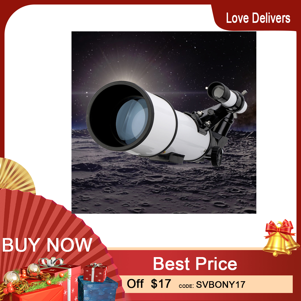 SVBONY SV501 70 mm Astronomical Telescope  Monocular Moon Bird Watching Kids Adults Astronomy Beginners      No tripod in the Package
