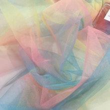 1.6 metros * 1 quintal suave arco-íris, tule tutu fio hexagonal malha foto fundo pano dama de honra decoração festa de casamento suprimentos