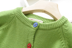 Image 3 - LOVE DD&MM Girls Coat 2020 New Childrens Clothing Girls Cute Bird Soft Long Sleeved Casual Button Knit Cardigan Coat
