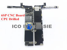 Para iPhone 6sp 6S Plus placa CNC perforada con CPU 16/64/128GB placa base bloqueada iCloud remove CPU Swap placa base placa lógica(China)