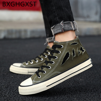 Hip hop skateboard shoes men 2020 high top men canvas shoes Breathable high fashion Harajuku shoes zapatillas hombre casual buty image