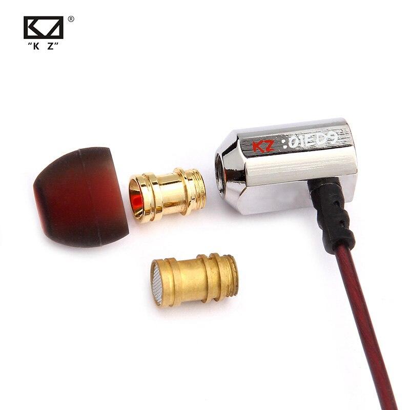 KZ ED9 3.5mm dans l'oreille écouteurs lourd basse HIFI DJ stéréo bouchon d'oreille isolation du bruit avec micro casque E57 KZ AS10 ZS10 ZST ZSN ES4