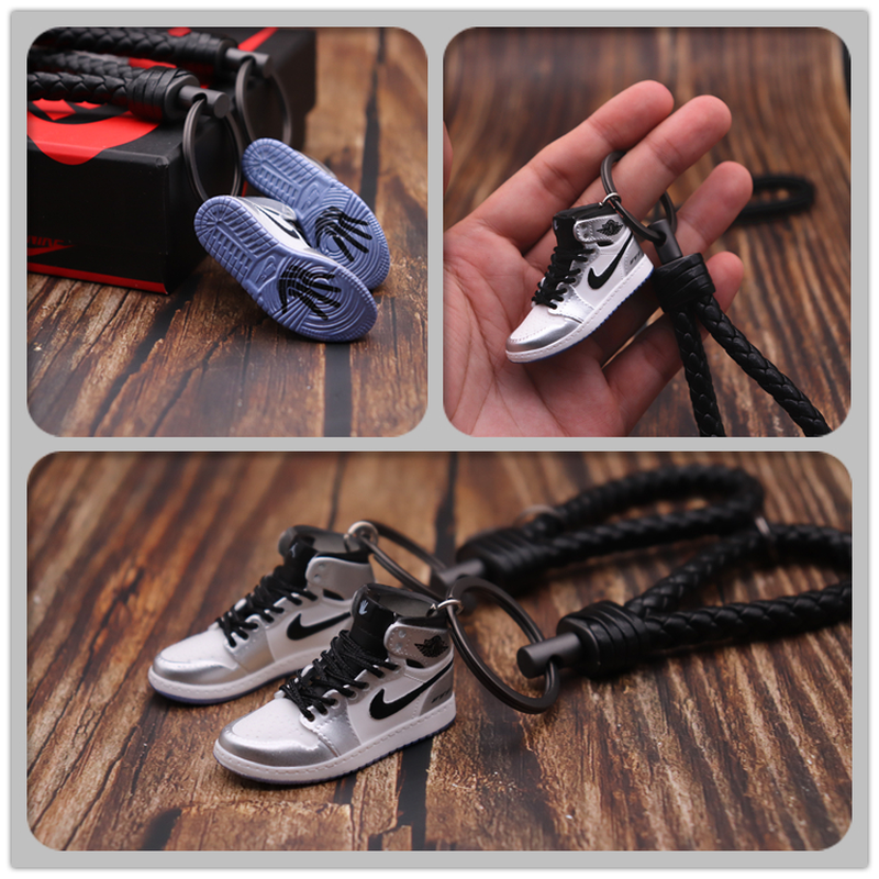 Handmade 3D AJ Key Chain Air Mini Jordan Sneakers Model Key Chain Cute Basketball Shoes Key Ring Best Gift New Fashion Jewelry