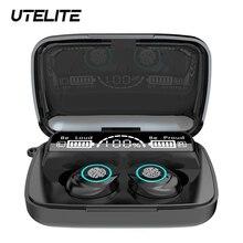 UTELITE M17 TWS kulaklık Bluetooth el feneri kulaklık Led ekran su geçirmez IPX7 dokunmatik kontrol kulakiçi büyük pil kapasitesi
