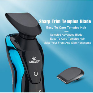 Image 4 - Máquina de afeitar eléctrica 4D para hombres, afeitadora para Barba, lavable, recargable, en seco y húmedo, resistente al agua