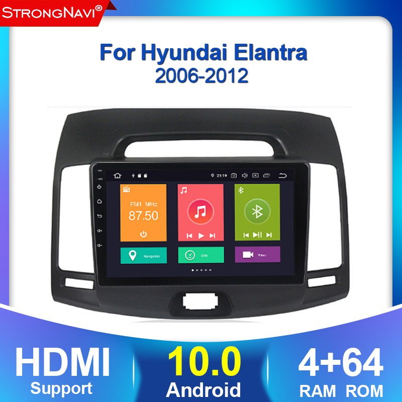 Android 10. 4G + 64G 2Din 4G lte <font><b>Auto</b></font> Radio Multimedia Video Player für Hyundai Elantra 4 HD 2006-2012 Navigation <font><b>GPS</b></font> <font><b>Auto</b></font> Stereo image