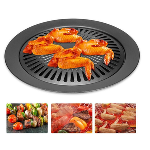 GH 1pc Barbecue plate Round Ir