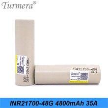 21700 batterie 48G 4800mah 35A batterie pour Cigarette électrique Vape tournevis e-bike batterie Turmera INR21700-48G