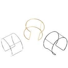 Pulsera de mariposa con Base de alambre de Metal, brazalete ancho en blanco, ajustes de Bases para joyería DIY, venta al por mayor