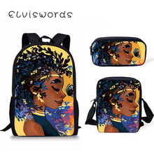 Black Art Afro Girl Backpacks For Teen Girls Yellow Large School Bag Fashion Backpack Scool Primary Students Satchel
