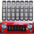 Передняя вставка решетка крышка с сеткой отделка автомобиля наружное украшение для Jeep Wrangler TJ 1997-2006 ABS наклейки для автомобиля Стайлинг