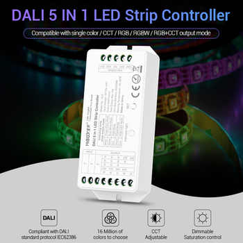 led strip dimmer MiBOXER DALI 5 IN 1 LED strip Controller DL5 15A single color/CCT/RGB/RGBW/RGB+CCT,DC12V-24V - DISCOUNT ITEM  27% OFF All Category