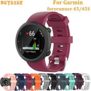 For Garmin forerunner 45 45S Sport Silicone wrist strap Replacement Smart watch bands For forerunner 45 45S dropshipping