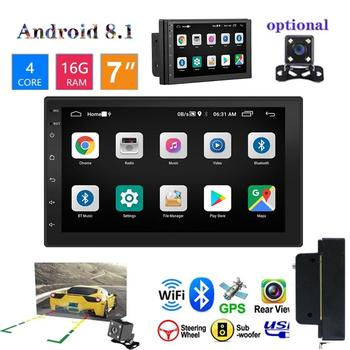 7 Inch Car HD Touch Screen Bluetooth Mp5 Stereo Player 2 Din Radio GPS Navigation Integrated MP5 for Android 8.1 Support WIFI