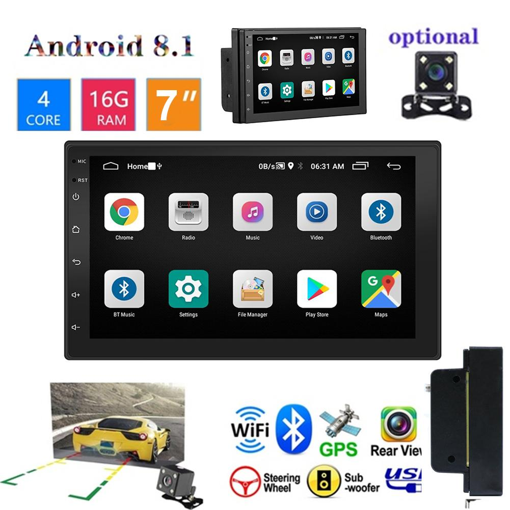 7 Inch Car HD Touch Screen Bluetooth Mp5 Stereo Player 2 Din Radio GPS Navigation Integrated MP5 for Android 8.1 Support WIFI image