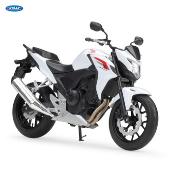 WELLY 1:10   Honda HONDA CB500   Diecast Alloy Motorcycle Model Toy For Children Birthday Gift Toys Collection tamiya honda rs1000 motorcycle 14014 1 12