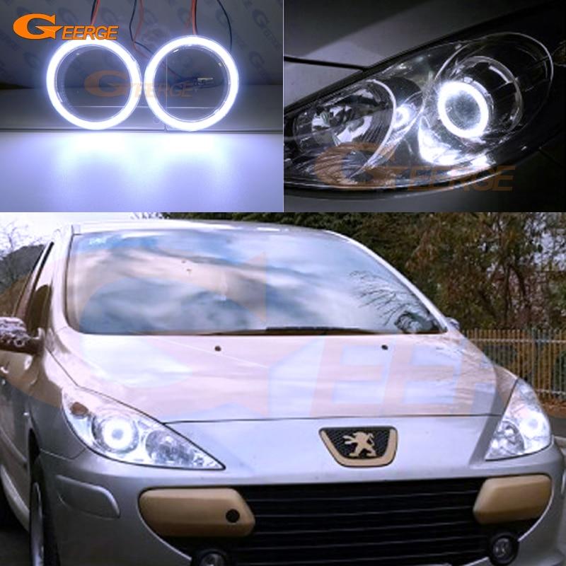 Peugeot 307 Blue 4-LED Xenon Bright Side Light Beam Bulbs Pair Upgrade